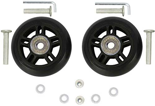 0.31 ORO 1 Pair Luggage Wheels Replacement 45//50//54//60//64//68//70//72//75//80//84//87//90mm Case Wheels with 8mm Bearings Wheels for Suitcase and Inline Outdoor Skate and Caster Board