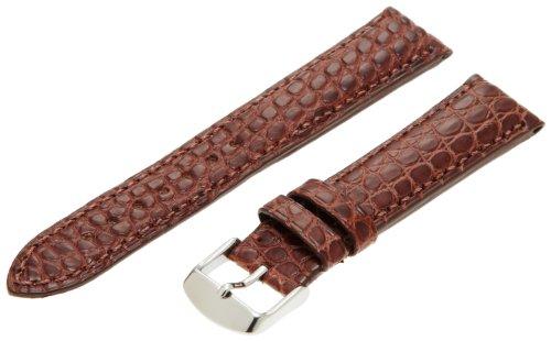 Hadley-Roma Men's MS2010RZ-200 20-mm Brown Genuine Alligator Leather Watch Strap