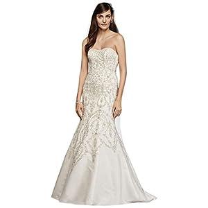 Oleg Cassini Tulle and Crystal Mermaid Wedding Dre Style CWG706