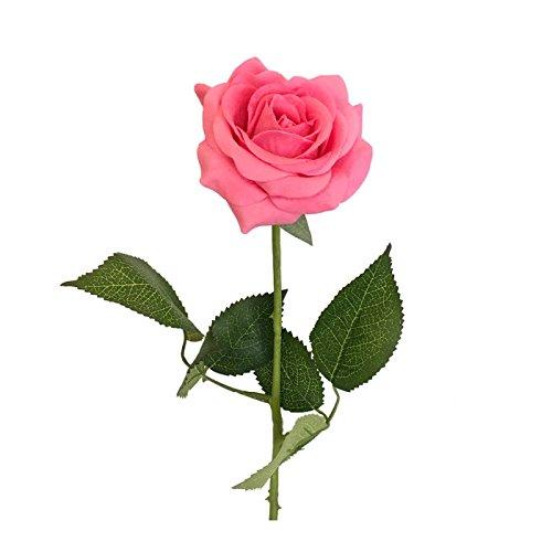 1 Dozen of Live-Feel Real Touch Medium open roses(DIA2.75