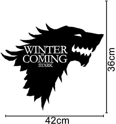 ZHUWall Juego De Tronos Stark Emblema De La Familia Lobo De Vinilo ...