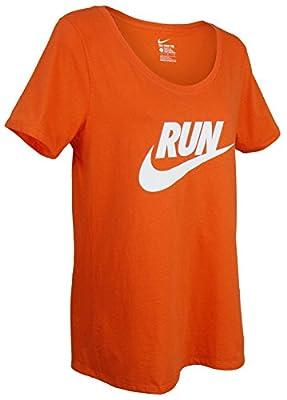 NIKE Womens Run Swoosh Active Top - Brilliant Orange (X-Large)