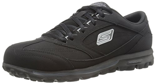 Skechers Performance Women's Go Walk Lace-Up Shoe, Black, 6.5 M US (Skechers Go Walk With Memory Foam)