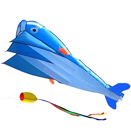 IMAGE 3D Kite Huge Frameless Soft Parafoil Giant Red Dolphin Breeze Beach Kites Multi-color