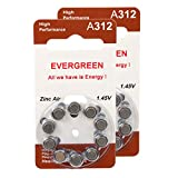 Hearing Aid Battery A312/B10_20 Evergreen
