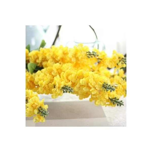ShineBear Real Touch Super Nice Artificial Larkspur Hyacinth Snapdragon Flower Silk Flower Hotel Garden Wedding Decor – (Color: Yellow, Size: Hyacinth)