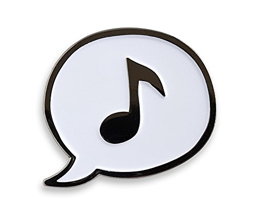 Note Lapel Pin - Pinsanity Music Note Enamel Lapel Pin