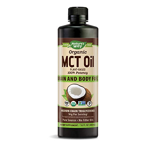Nature's Way 100% Potency Pure Source MCT Oil from Coconut- Certified Paleo, Certified Vegan- Non-GMO Project Verified, Vegetarian, Gluten-Free, 16 Fluid Ounce (Packaging May Vary)