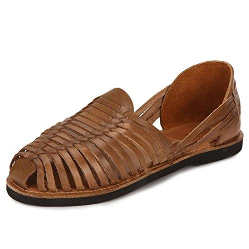 Escaro Men's 100% Genuine Leather Casual European Sandals