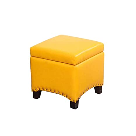 Cool Amazon Com Star Life Footstool Leather Square Storage Andrewgaddart Wooden Chair Designs For Living Room Andrewgaddartcom