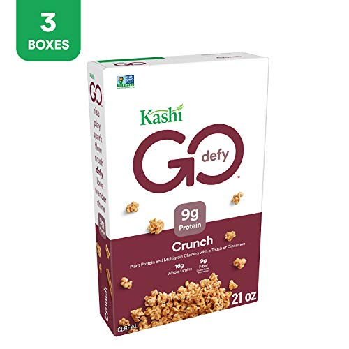 Kashi GO Crunch Breakfast Cereal - Non-GMO Project Verified, Vegetarian, Bulk Cereal 21.3 Oz Box (Pack of 3 Boxes)