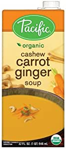 Pacific Foods, Organic Cashew Carrot Ginger Soup (Pack of 2)