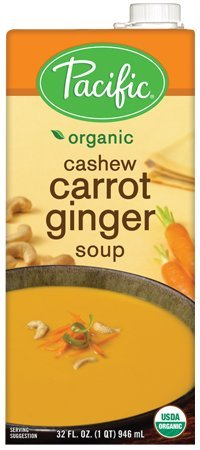 (Pacific Foods Organic Cashew Carrot Ginger Soup, 32oz, 12-pack )