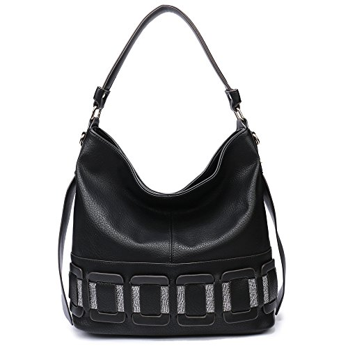 Large Leather Patent Hobo (Hobo Handbags for Women, Large Purses Tote Shoulder Bags With Adjustable Strap)