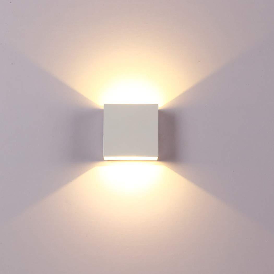 FUNOC 6W lampada LED Aluminium wall light rail project Square LED wall lamp bedside room bedroom wall lamps arts