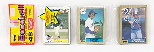 1986 Unopened 48 Count Baseball Rack Pack + 1 All Star Commemorative Card - Kirby Puckett Minnesota Twins (49 Total Cards) ()