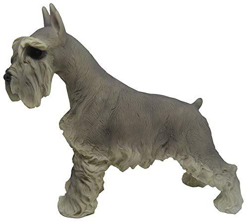 Escultura Schnauzer Cachorro de Resina Decoracao Miniatura