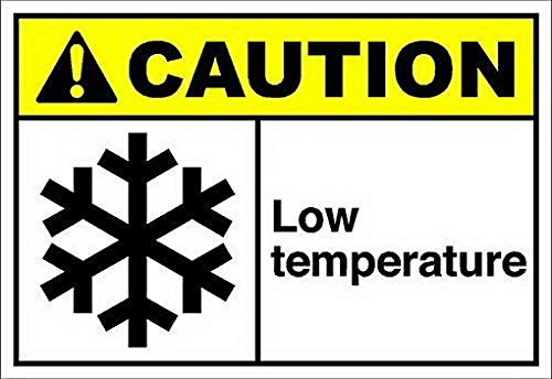 Uptell Low Temperatur?E Caution OSHA Ansi Sign Safety Sign Metal Warning Sign Outdoor Yard Sign for Home 8x12