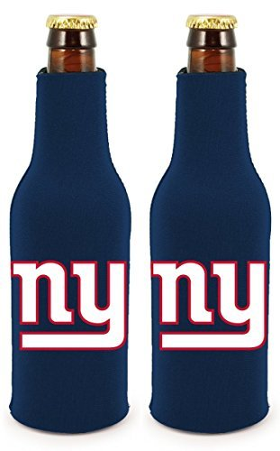 - NFL Football 2014 Team Color Logo Bottle Suit Holder Cooler 2-Pack (New York Giants)