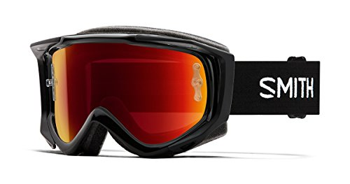 Smith Optics Fuel V.2 Adult Off-Road Goggles - Black/Chromapop Everyday Red Mirror/One Size ()