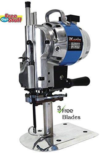 "Fabric Cloth Cutter KC-3 Blue 10""Cutting Machine + 3 Free Blades"