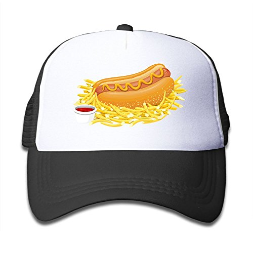 [Elephant AN Hot Dog French Fries Mesh Baseball Cap Kid Boys Girls Hat] (Crazy Magician Costume)