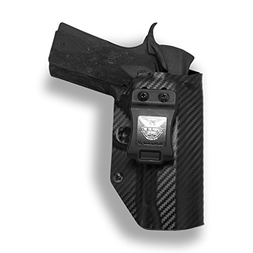 Concealment 1911 Rail//Non-rail 5 inch IWB Black Carbon KYDEX Holster Right Hand