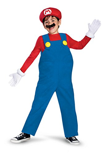 Boy's Nintendo's Super Mario Brothers Deluxe Costume, 4-6