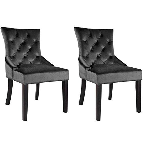 Corliving - Antonio Accent Chairs  - Dark Espresso/dark Gray