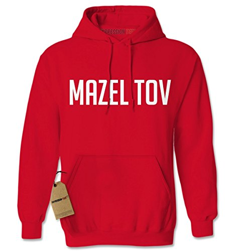 Hoodie Mazel Tov Adult Small Red