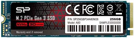 Silicon Power PCIe M.2 NVMe SSD 256GB Gen3x4 R/W