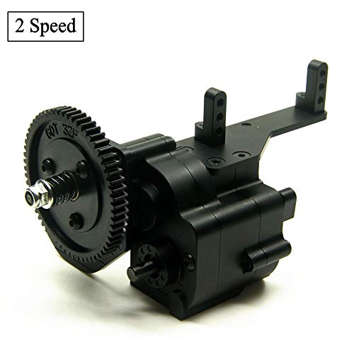 RCLions CNC Aluminum AX2 Two Speed Transmission with Steel Gear for Axial Wraith SCX10 Honcho 1/10 RC Crawler Car