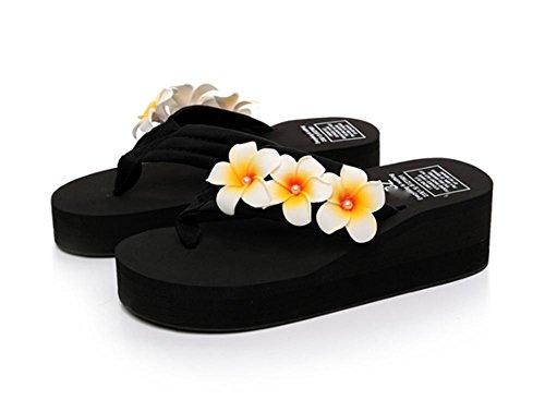 pengweiSimple pendiente con la palabra zapatillas deslizadores de fondo grueso zapatillas zapatos de playa de se?oras 1