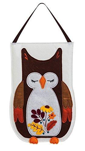 Evergreen Flag & Garden 2DHF1002 Autumn Owl Felt Door Decor, Multicolored Review