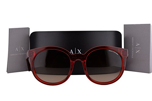 Armani Exchange AX4057SF Sunglasses Transparent Watermelon w/Brown Gradient Lens 820913 AX - Watermelon Sunglasses