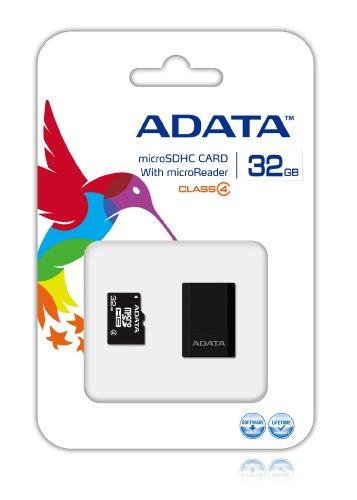 Cartão de Memória Classe 4, Micro SDHC com Adaptador SD, 32Gb, Adata, Cartões SD