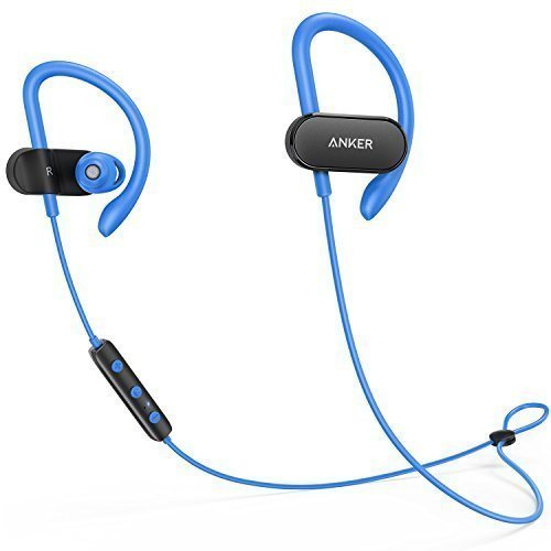 Anker SoundBuds Curve Wireless Headphones, Bluetooth 4.1 Sports Earphones with Nano Coating, 14 Hour Battery, CVC...