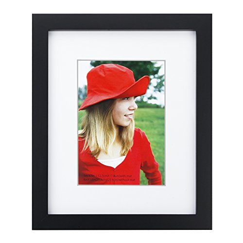 8x10 inch Picture Frame Made of Solid Wood and High Definition Glass Display Pictures 5x7 with Mat or 8x10 Without Mat for Wall Mounting Photo Frame - Frame Wide Polaroid