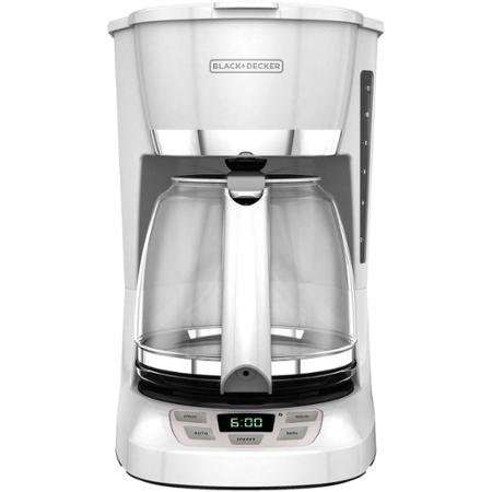Black & Decker 12-Cup Programmable Coffee Maker, White by Supernon