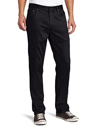 Kenneth Cole New York Men's Five Pocket Strech Twill Pant, Black, 30x30