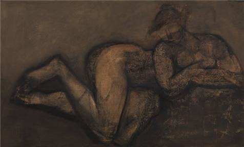 The High Quality Polyster Canvas Of Oil Painting 'Reclining Nude By Constant Permeke' ,size: 24x40 Inch / 61x101 Cm ,this Amazing Art Decorative Canvas Prints Is Fit For Home Theater Gallery Art And Home Gallery Art And Gifts