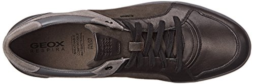 Geox Hombres Mbox17 Fashion Sneaker Negro / Gris