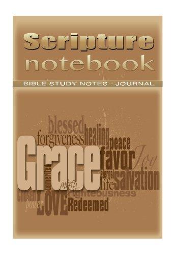 Scripture Note Book: Biblical Study Note Book