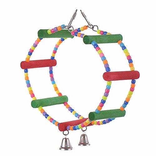Ferris Wheel Bird Toys, Bird Swing Toys Wooden Bead with ...