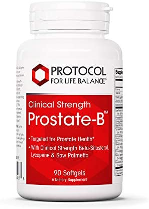 Protocol For Life Balance – Prostate-B Clinical Strength – Beta-Sitosterol, Lycopene and Saw Palmetto from Natural Ingredient Source Targeted for Prostate Health – 90 Softgels