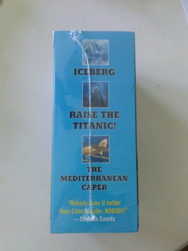 Clive Cussler Boxed Set of 3 - Iceberg, Raise the Titanic!, and the Mediterranean Caper