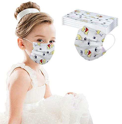 Allegorly 10PCS/20PCS/50PCS/100PCS Kinder Einweg 3-lagig, Washcloth für Kinder Kinder, mit süßem Dinosaurier-Druckmuster, Fashion Outdoor Elastic Ear Loop Washcloth