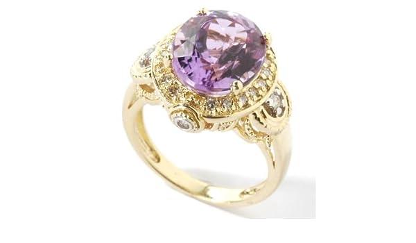 eadceb784f 18K Gold Martha Rocha Kunzite & Diamond Ring: Amazon.ca: Jewelry