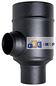 Chimenea Flue Tubo Coax Negro D. 100/150 Element Longitud Correcta 0,5