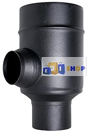 MBM Chimenea Flue Tubo Coax Negro D. 80/130 45 ° Curva CE de Acero 316 Hecho Estufa de pellets en Italia Uni 1856/2: Amazon.es: Jardín
